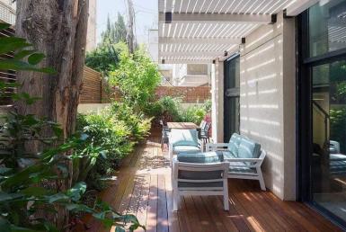 Vendu meublé avec un jardin à Dizengoff à Tel Aviv