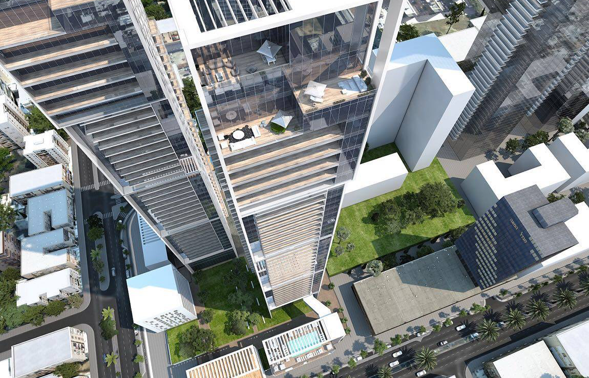 A VENDRE 4 PIECES PROJET NEUF - INFINITY TOWER - VIEUX NORD - TEL AVIV